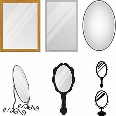 Mirror Vector Reflection Clip Hand Illustrations Mirrors