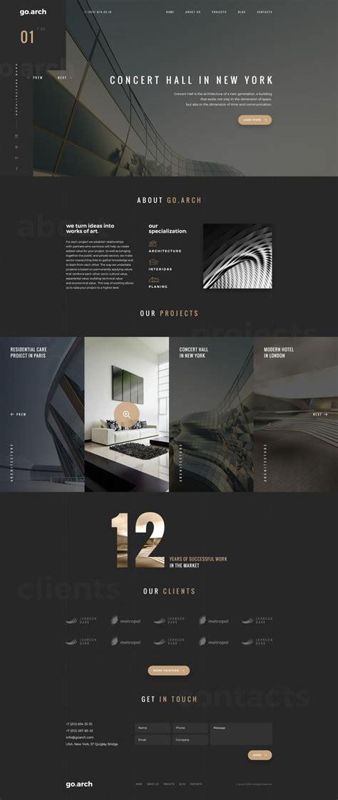 25 web design firm ideas on web 25 best ideas about architecture websites on Best