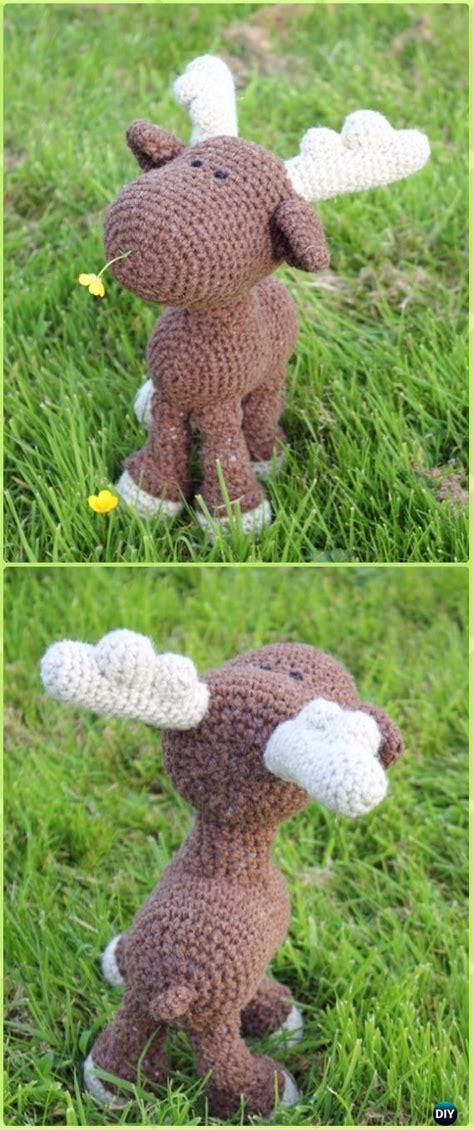 amigurumi crochet moose toy softies  patterns