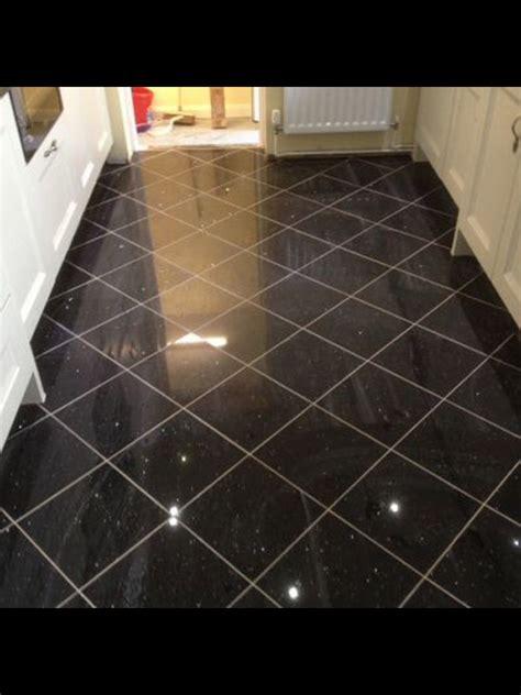 black galaxy granite floor tile hus