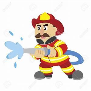 Cartoon clipart fireman - Pencil and in color cartoon ...