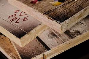 Foto Auf Holz Bügeln : druck auf holz holzdruck im vintage look ~ Markanthonyermac.com Haus und Dekorationen