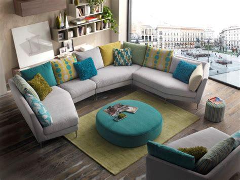 canapé couleur canape d 39 angle design pied alu coussins de couleur au