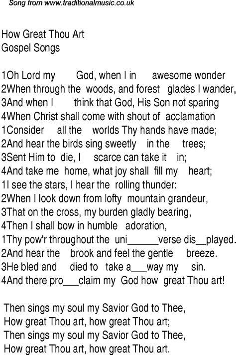Gospel choirs singing how great thou art