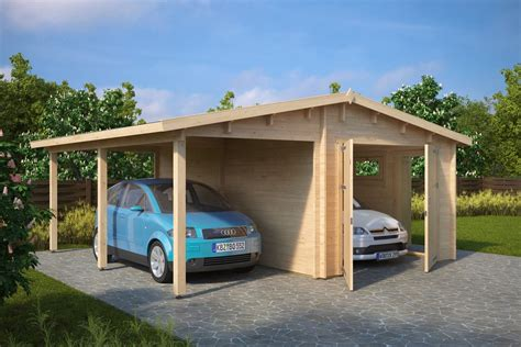 Carport Garage Kombination by Garage And Carport Combination Type G 44mm 6 X 6 M