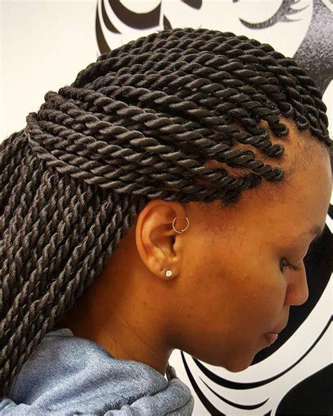 Rope Twist Hairstyles by Best 25 Rope Twist Braids Ideas On Senegalese