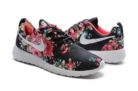 nike roshe run flower black 2015 nike roshe run shoes print floral collection black