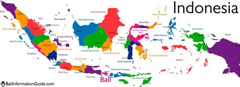 indonesia map bali guide