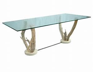 Table Basse En Bois Flotté : table basse verre sur pieds bois flott table basse design ~ Teatrodelosmanantiales.com Idées de Décoration