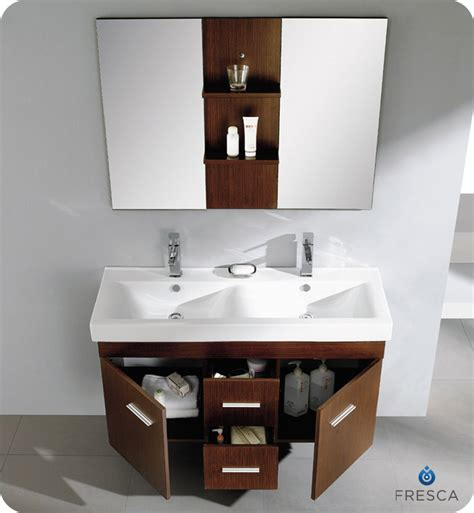 small double sink vanity brown wooden bathroom double vanity having round white