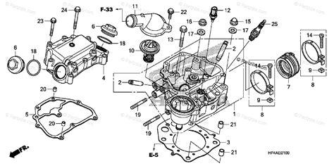 honda atv  oem parts diagram  cylinder head