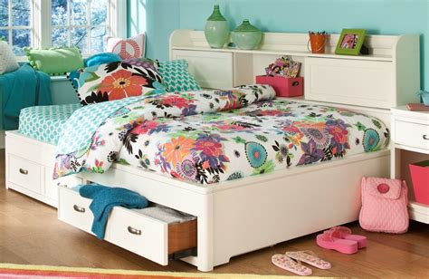 Bookcase Storage Bed by Park City White Bookcase Storage Lounge Bed From