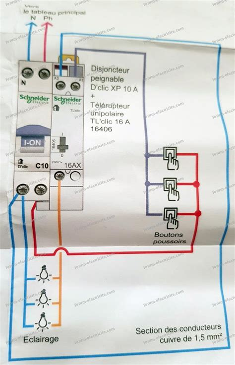 forum electricite conseils remplacement telerupteur