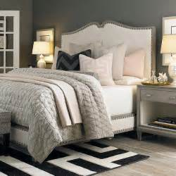 Bassett Upholstered Beds grey nightstands transitional bedroom