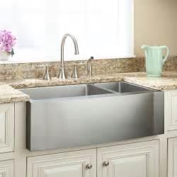 shallow undermount kitchen sink shallow sink signature hardware 5174