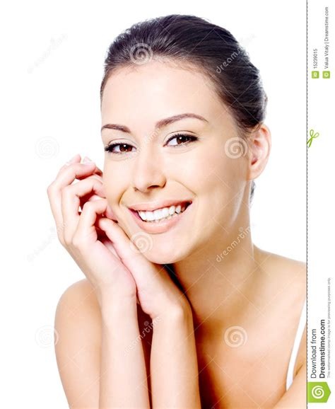 Happy Woman's Face With Clean Skin Royalty Free Stock