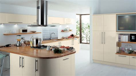 earth toned high gloss kitchen designs home design lover