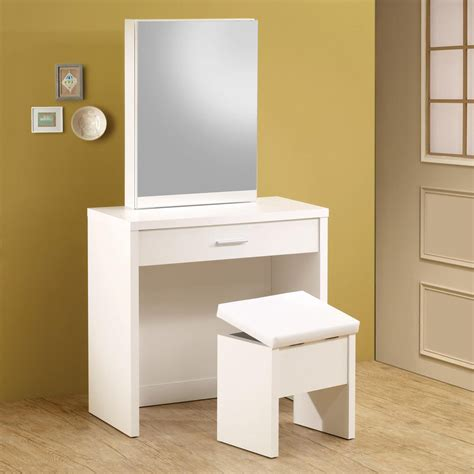 shop coaster furniture white makeup vanity at lowes