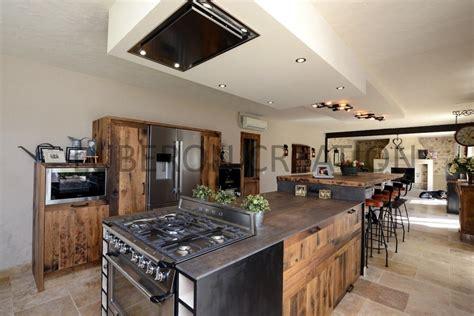 cuisine bois metal cuisine bois et metal les cuisines et styles meuble