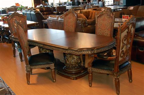 11 ornate carved dining table chair sideboard and