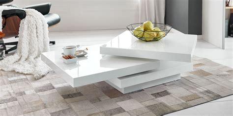 Couchtisch Cube Hochglanz Weiß Drehbare Platten Modern
