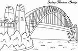 Bridge Buildings Architecture Coloring Printable Drawing Drawings sketch template