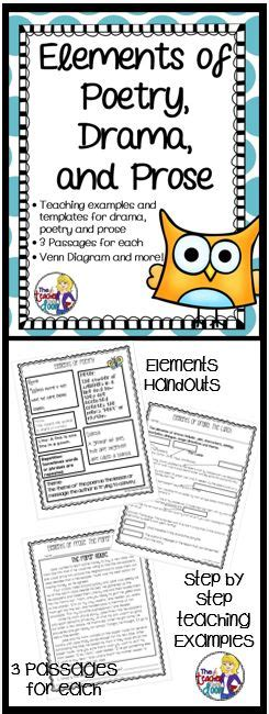 Elements Of Poetry, Drama And Prose For 3rd  5th Grade