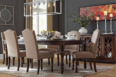 baxenburg brown extendable rectangular dining table from coleman furniture
