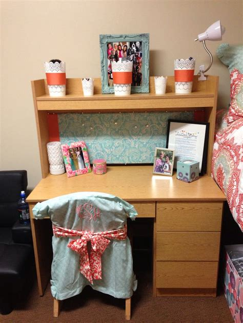 College Desks by Makeitmadidorm Desk And Monogram Chair Cover