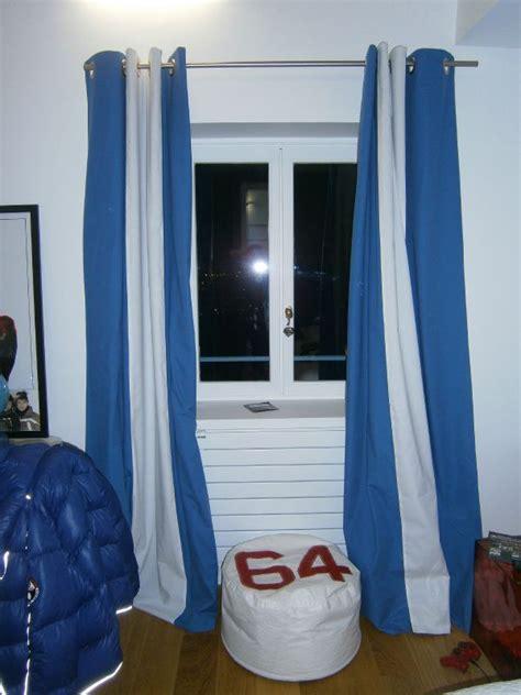 rideau bleu et blanc atlub