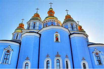 Churches Kiev Church Domes Thousand Golden Evangelisten