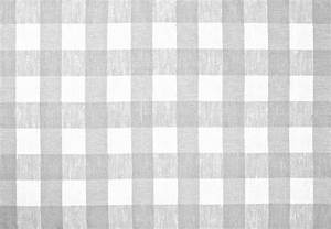 Gray Checked Fabric Tablecloth Stock Photo Image 38691260