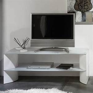 Meuble Tv 90 Cm : meuble tv blanc 90 cm maison et mobilier d 39 int rieur ~ Teatrodelosmanantiales.com Idées de Décoration