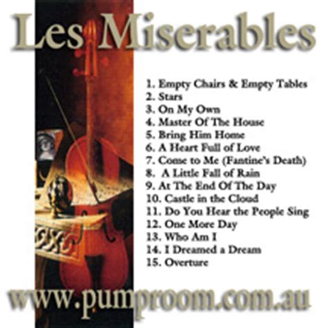 empty chairs at empty tables karaoke mp3 les miserables backing tracks in mp3