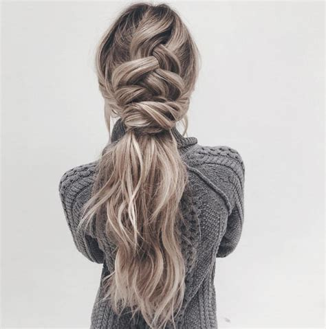 ponytail hair long hairstyles easy ponytails hairstyle trendiest braid double pophaircuts braided styles updo short knit link