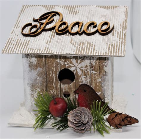 beautiful christmas bird house  jo anna marie designs