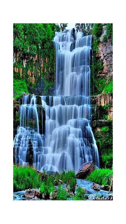 Waterfall Scenery Most Nature Relaxing Desktop Natural