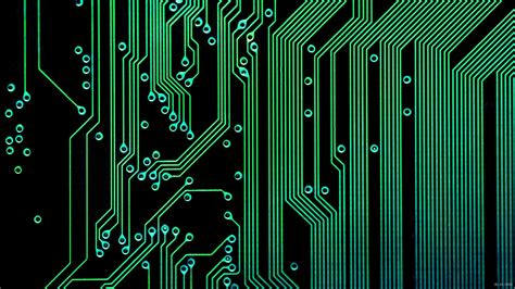Electronic Circuit Wallpaper Technology