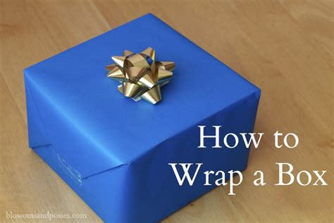 How To Gift Wrap A Box-blossomsandposies.com
