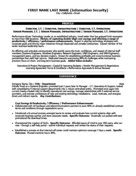 Information Technology Resume Template 2015 by Senior Project Manager Resume Template Premium Resume Sles Exle