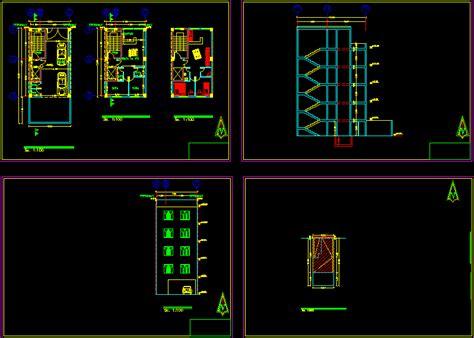 apartment plan  autocad cad   mb bibliocad