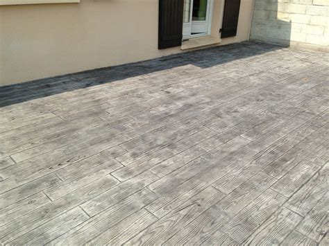terrasse beton imprim 233 imitation bois images