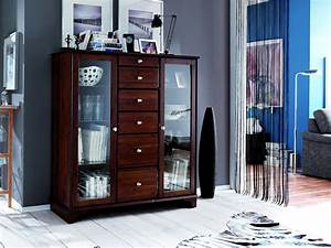 Highboard Nussbaum Massiv Interesting Sideboard Kommode