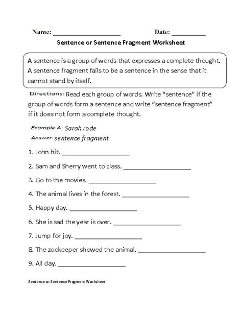 15 best images of fragment practice worksheet fragment