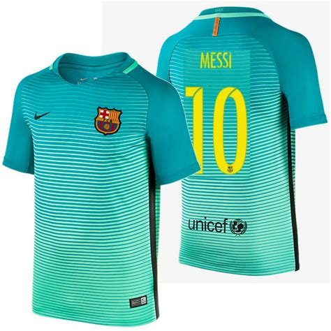 Nike Lionel Messi Fc Barcelona Third Youth Jersey 201617