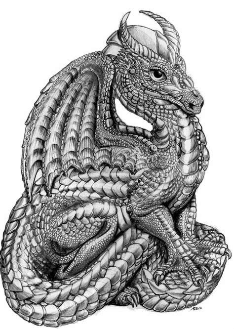 dragon | Dragon figurines, Dragon coloring page, Dragon images