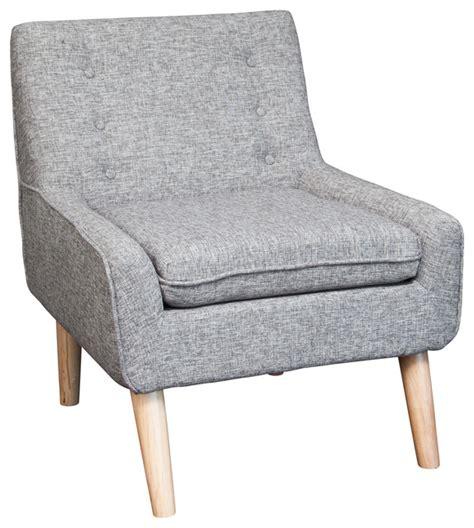 brocktson fabric retro accent chair multi grey