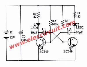 simple inverter circuit using 6 transistor With led circuits pdf