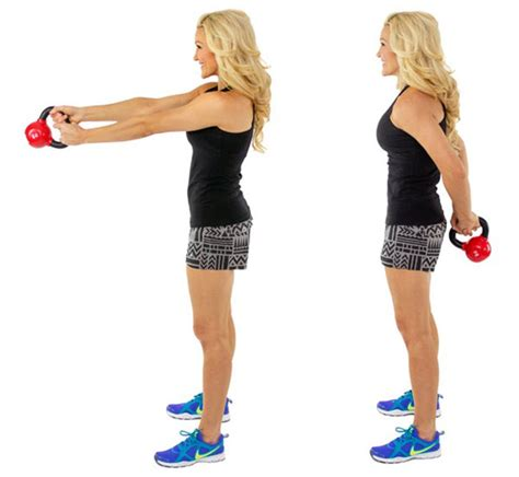kettlebell around minute exercise body exercises workout lunge push press fitness