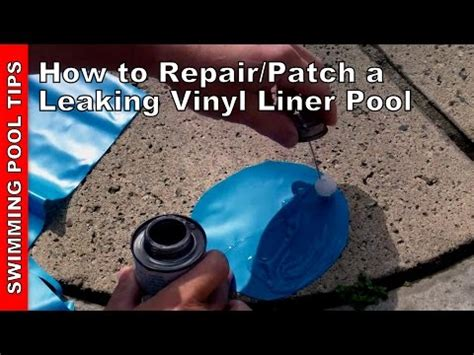 How To Repairpatch A Leaking Vinyl Liner Pool Youtube